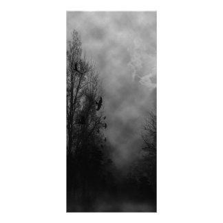Haunted Halloween Sky with Ravens Rack Card