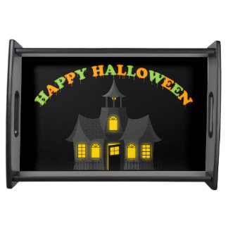Haunted Halloween Spooky Serving Tray