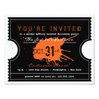 Haunted Halloween Ticket Party Invitation