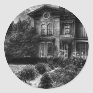 Haunted - Haunted House Classic Round Sticker