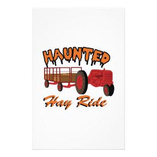 Haunted Hay Ride Stationery