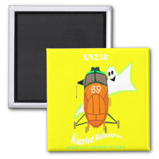 Haunted Helicopter 2 Inch Square Magnet