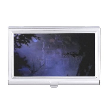Professional Business Haunted Hill House Business Card Holder