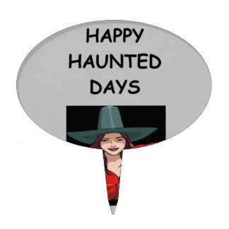 haunted holidays cake topper