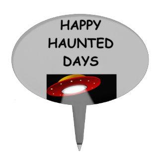 haunted holidays cake picks