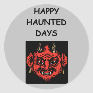haunted holidays stickers