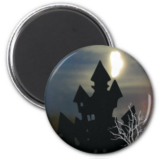 Haunted House #1 2 Inch Round Magnet