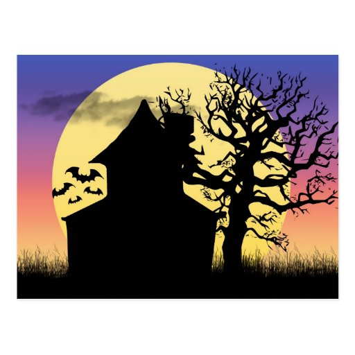 Haunted House Afternoon Postcard