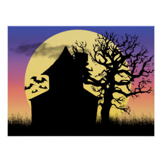 Haunted House Afternoon Poster Print