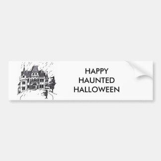 Haunted House B & W Sketch Bumper Sticker