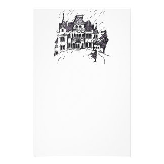 Haunted House B & W Sketch Stationery