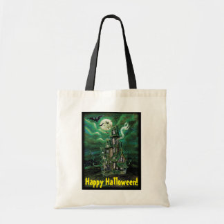 Haunted House Bat Tote