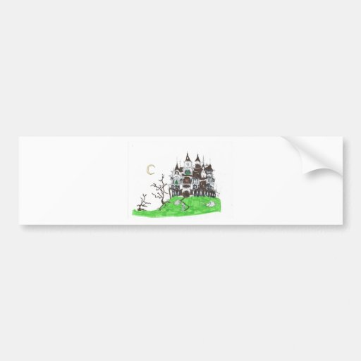 Haunted house bumper stickers