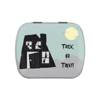 Haunted House Candy Tin