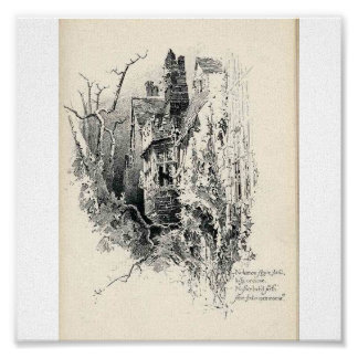 Haunted House Canvas Poster
