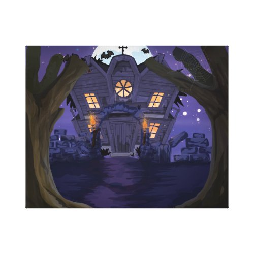 haunted house canvas print - haunted house canvas art