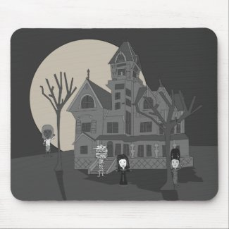 Haunted House Cartoon Mouse Pad mousepad
