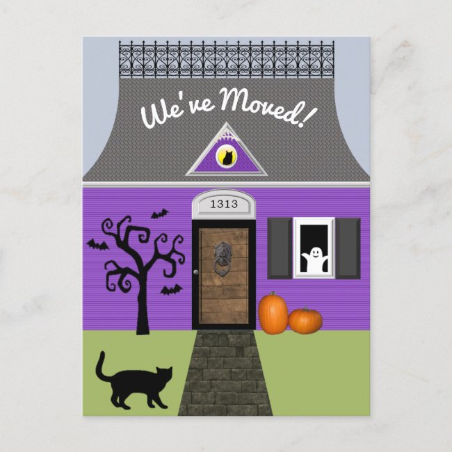 Haunted House Change of Address Postcard