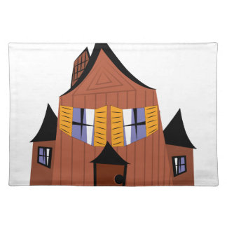 Haunted House Cloth Placemat