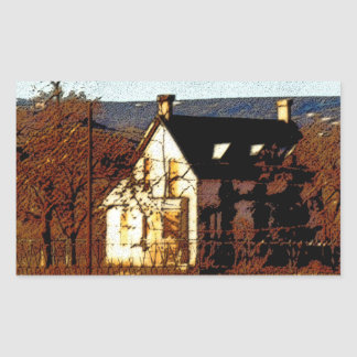 Haunted House Customizable Halloween Rectangular Sticker