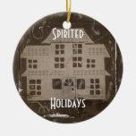 Haunted House Customizable Ornament