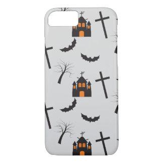 Haunted house, dead tree, bat, cross pattern iPhone 7 case