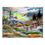 Haunted House Design Post Card