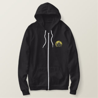 Haunted House Embroidered Hoodie