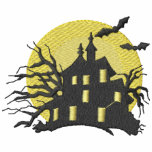 Haunted House Embroidered Hooded Sweatshirt