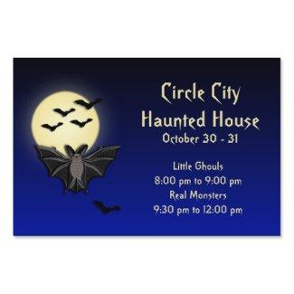 Haunted House Full Moon Bat Yard Sign