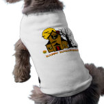 Haunted House Ghost Cat Doggie T Shirt