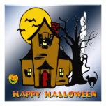 Haunted House Ghost Cat Invitation