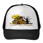 Haunted House Ghost Cat Trucker Hats