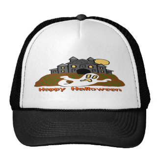 Haunted House Ghost Trucker Hat