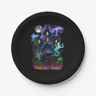 Haunted House Ghosts Paper Plates