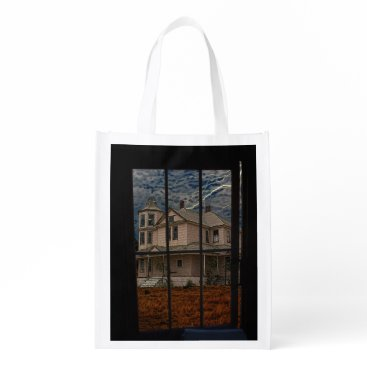 HAUNTED HOUSE GROCERY BAG