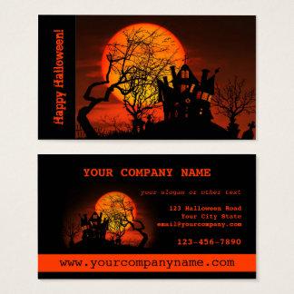 Haunted House Halloween Business Card