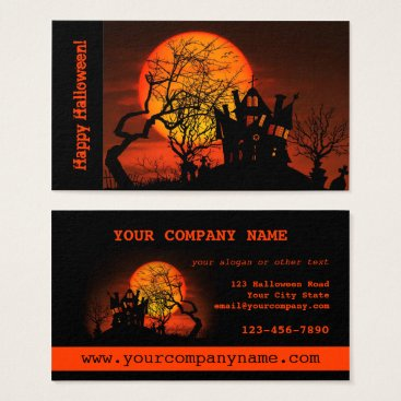 Professional Business Haunted House Halloween Business Card