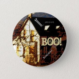 Haunted House Halloween Button