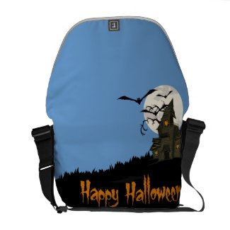 Haunted House Halloween Commuter Bags
