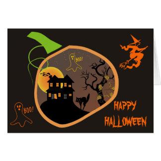 Haunted House Halloween Custom Greeting Card