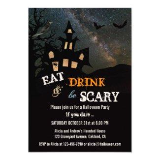 Haunted House Halloween Dinner Party Invitation