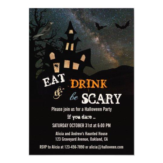 haunted house halloween dinner party invitation zazzle com