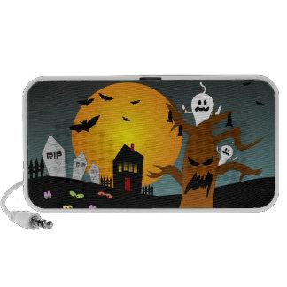 Haunted House Halloween Doodle Speakers