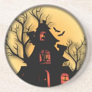 Haunted House | Halloween Drink Coaster