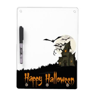 Haunted House Halloween Dry-Erase Whiteboards