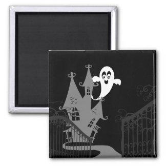 Haunted House Halloween fridge magnet