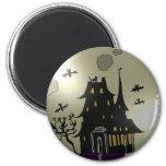 Haunted House Halloween Fridge Magnets