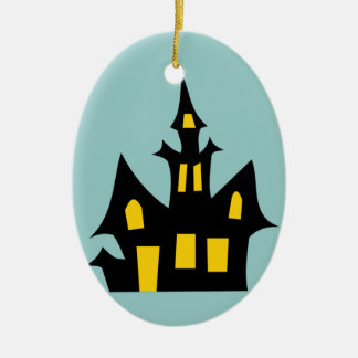 Haunted  House - Halloween Fun Ceramic Ornament