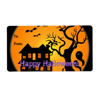 Haunted House Halloween Gift Tag Avery Label